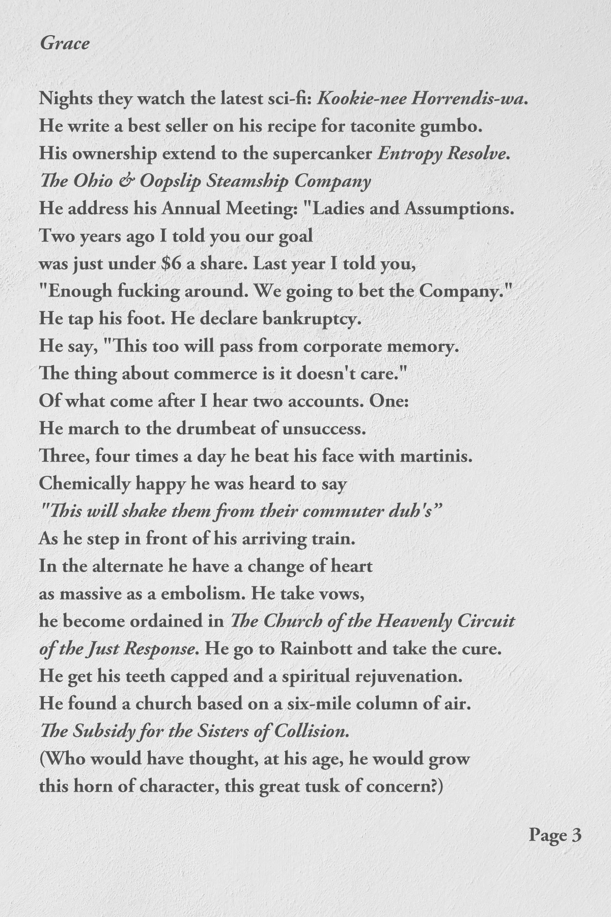 Grace by John Barr page 3