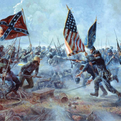 Civil War battle scene