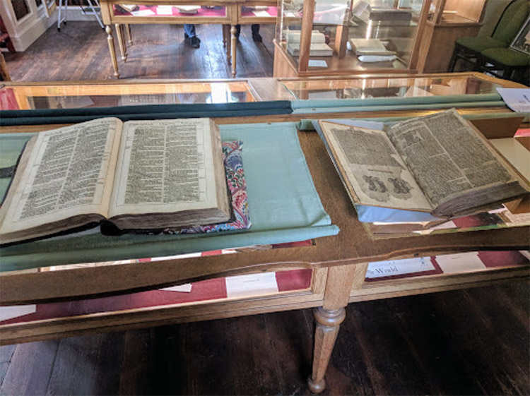 very old books on display